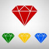 Diament ikona - ilustracja — Wektor stockowy
