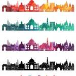 India skyline detailed silhouette — Stock Vector #63567537