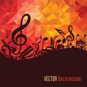 Sfondo colorato musica. — Vettoriale Stock