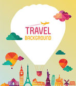 Travel and tourism background — Stock Vector