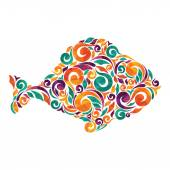 Colorful fish illustration — Stock Vector
