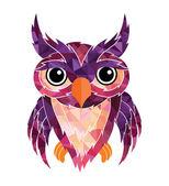Owl animal illustration — Stock Vector