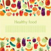Healthy food concept — Stock Vector