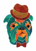Dog gentleman in hat — Vettoriale Stock