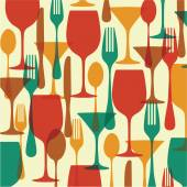 Food and drinks Pattern — Stock Vector