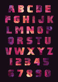 Abc education font — Stock Vector