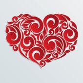 Floral hart achtergrond — Stockvector