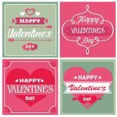 Valentine's day love cards — Stock Vector