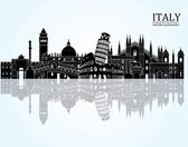 Italy detailed skyline. — Stock Vector