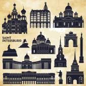 Saint Petersburg monuments. — Stock Vector