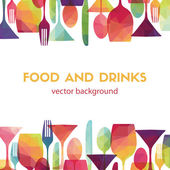 Food and drinks  background — Stock Vector