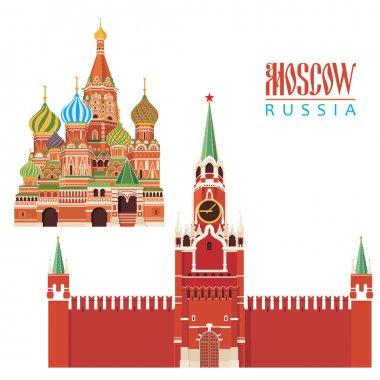 Moscow city illustration