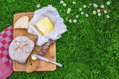 Bread,butter and cheese — Stock Photo