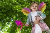 Schattig klein meisje van de fee — Stockfoto