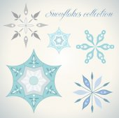 Various Snowflakes collection — Stock Vector