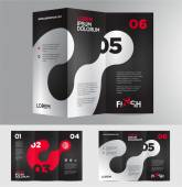 Abstract business brochure design — Stock Vector