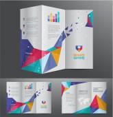 Professional business brochure design — Stock Vector