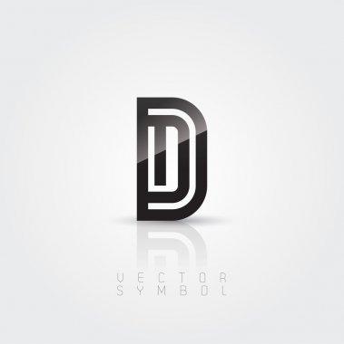 Elegant and creative line letter D