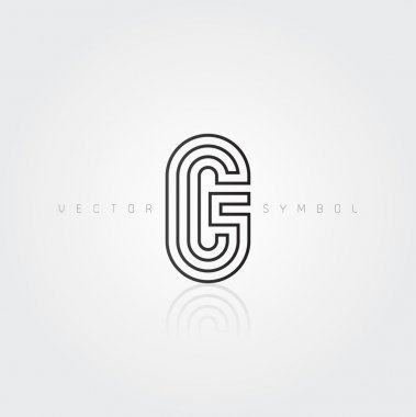 Graphic creative line letter G