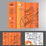 Abstract business brochure design — Stock Vector #64043923