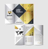 Abstract business brochure design — Stok Vektör