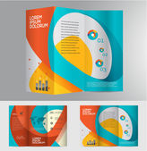 Abstract business brochure design — Stock Vector