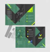 Design de brochura negócios abstratos — Vetor de Stock