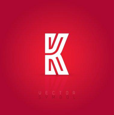 Graphic creative line letter K