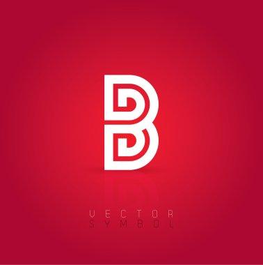 Graphic creative line letter B