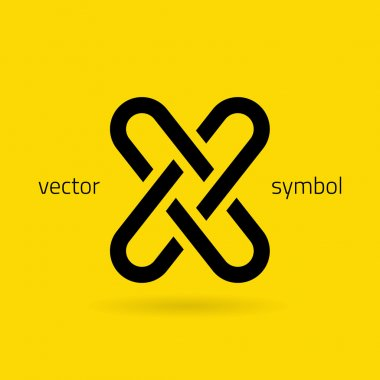 Graphic creative line alphabet symbol Letter X