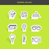 Summer and holiday icons — Stock Vector