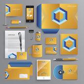 Business identity design templates — Stock Vector