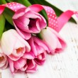 Bouquet of pink tulips — Stock Photo #69957969