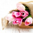 Bouquet of pink tulips — Stock Photo #70991537