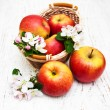 Apples  and apple tree blossoms — Stock Photo #72174237
