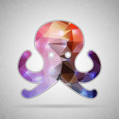 Icon of octopus for Web and Mobile Applications — Stock Vector