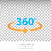 Abstract Creative concept vector image logo of 360 degrees for web and mobile applications isolated on background, art illustration template design, business infographic and social media, icon, symbol — Wektor stockowy