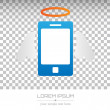 Abstract Creative concept vector icon of smart phone for Web and Mobile Applications isolated on background. Art illustration template design, Business infographic and social media, origami icons. — Stock Vector #77524280