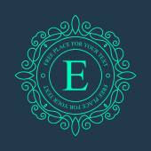 Abstract creative concept vector logo of retro monogram isolated on background. Art illustration template design for restaurnat, cafe, hotel, real estate, wedding and spa elegant cute fine emblem. — Stockvektor