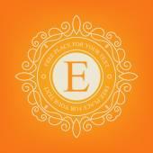 Abstract creative concept vector logo of retro monogram isolated on background. Art illustration template design for restaurnat, cafe, hotel, real estate, wedding and spa elegant cute fine emblem. — Vector de stock