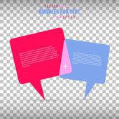 Abstract Creative concept vector empty speech bubbles set. For web and mobile applications isolated on background, illustration template design, presentation, business infographic and social media. — Stok Vektör