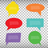 Abstract Creative concept vector empty speech bubbles set. For web and mobile applications isolated on background, illustration template design, presentation, business infographic and social media. — Stock Vector