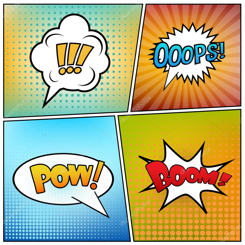 comic book script template - abstract creative concept vector comics pop art style