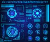 Abstract future, concept vector futuristic blue virtual graphic touch user interface HUD. For web, site, mobile applications isolated on black background, techno, online design, business, gui, ui. — Stock Vector