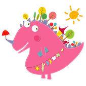 Dinosaur friends — Vector de stock