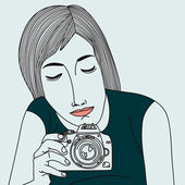 Woman with a camera — Stock Vector