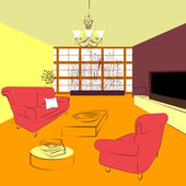 A great living room — Wektor stockowy