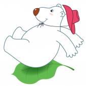 Glisser un polar bear.jpg — Vecteur