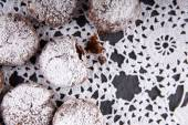 Homemade chocolate crinkles cookies — Stock Photo