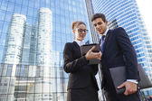 Встреча деловых людей — Стоковое фото